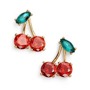 Kate Spade Ma Cherie Red Cherry Earrings New York